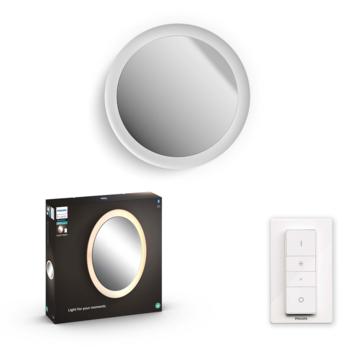 Philips Hue Adore badkamer spiegel rond (56cm) 1x27W wit incl. switch en bluetooth