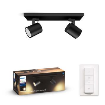 Philips Hue Runner opbouwspot 2x5W zwart incl. switch en bluetooth