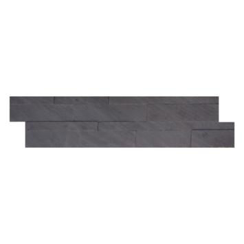 Wandbekleding natuursteen fineer Black Shadow Z-vorm tegel (ca. 0,45 m²)