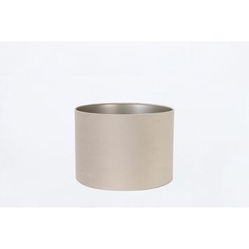 Lampenkap velours grijs 30-30-21 cm