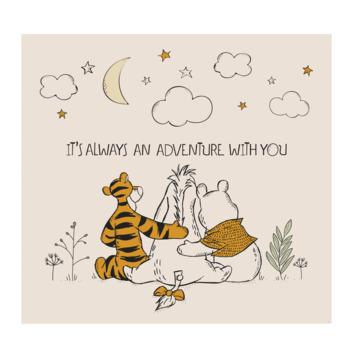 Fotobehang Winnie the pooh- Vrienden voor altijd (dessin 111390)
