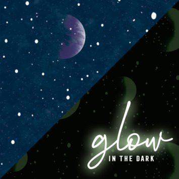 Papierbehang Glow in the Dark - planetarium blauw (dessin 108019)