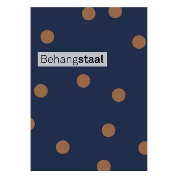 Behangstaal vliesbehang confetti donkerblauw-koper (dessin 108561)