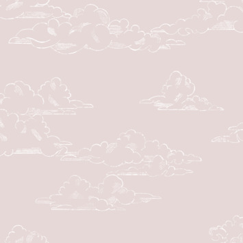 Vliesbehang vintage wolk roze (dessin 108556)