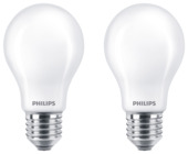Philips LED peer E27 60W 2 stuks mat niet dimbaar