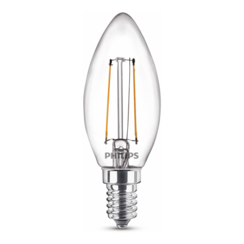 Philips LED kaars E14 25W filament helder niet dimbaar
