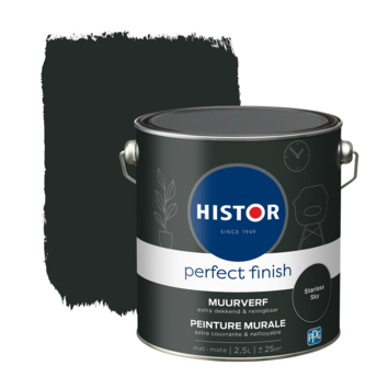 Histor Perfect Finish muurverf mat Starless Sky 2,5 liter