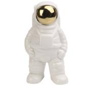 Vaas astronaut wit met goud (8x7x16cm)