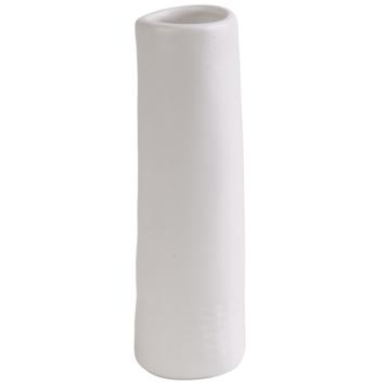 Keramieken vaasje mat wit (5x5x15cm)
