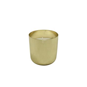 Kaars in gouden pot 7 x 7 cm