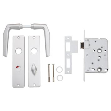 KARWEI insteekslot badkamerslot/wc-slot compleet met deurschild Doorn 50mm PC 63mm
