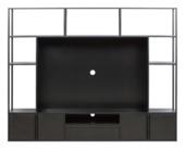 Tv meubel Toby metaal/ mdf zwart