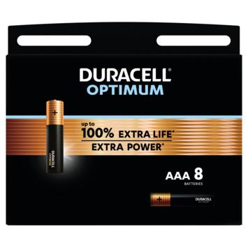 Duracell Batterij AAA Alkaline Optimum 8 stuks