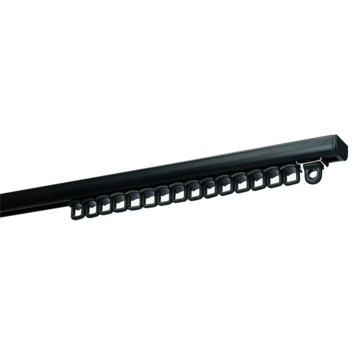 Gordijnrail Subtile zwart complete set 200 cm