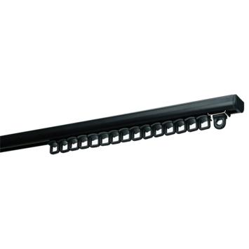 Gordijnrail Subtile zwart complete set 250 cm