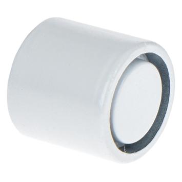 Eindknop 12,7 mm gordijnroede wit 2 stuks