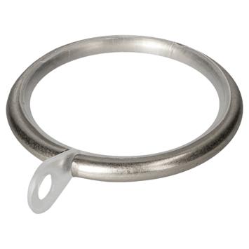 Ring 20 mm gordijnroede Modern RVS 10 stuks