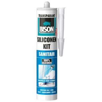 Bison siliconenkit transparant koker 300 ml