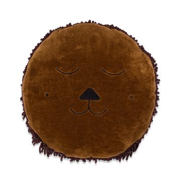 Kussen Leeuw 45 cm bruin