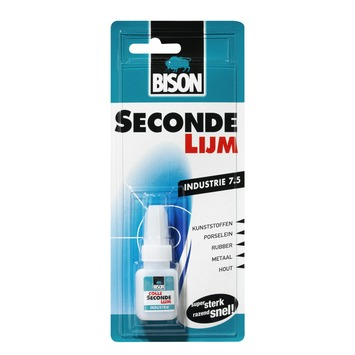 Bison secondelijm industrie blister 7,5 g