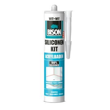 Bison siliconenkit acrylbaden wit koker 300 ml