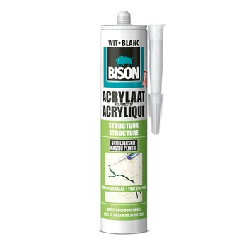 Bison acrylaatkit structuur wit koker 300 ml