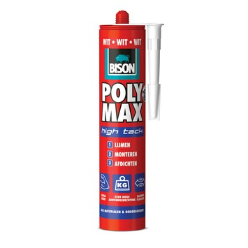 Bison Poly Max high tack express wit koker 425 g
