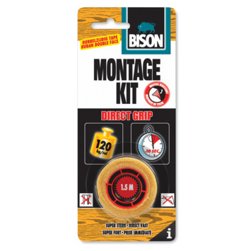 Bison montagekit direct grip tape 19 mm x 1.5 m