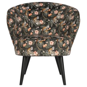 WOOOD fauteuil Bo fluweel aap
