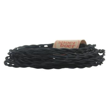 Snoerboer snoer gedraaid zwart 3 meter