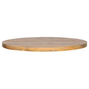WOOOD Tablo Tafelblad mangohout rond 120 cm