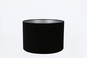 Lampenkap velours zwart  35-35-23 cm