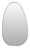 Spiegel Ei-vorm Zwart
