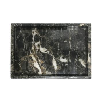Marmeneren dienblad rechthoek bruin 30 x 20 cm
