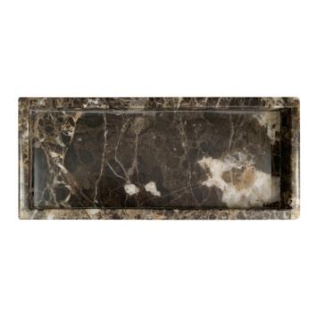 Marmeren dienblad rechthoek bruin (30x12.5cm)