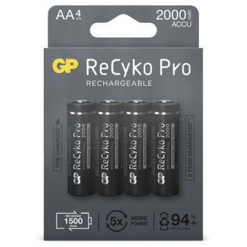 GP ReCyKo Penlite Batterij AA Oplaadbaar 4 Stuks