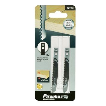 Piranha decoupeerzaagblad X21162-XJ voor oude Makita schacht (2 stuks) voor hout