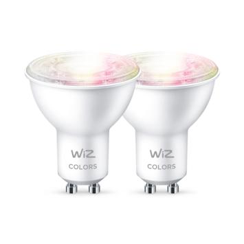 WiZ Connected LED spot GU10 50W 2 stuks kleur licht dimbaar