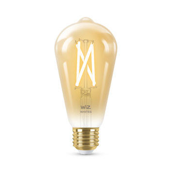 WiZ Connected LED edison E27 50W filament gold koel tot warmwit licht dimbaar