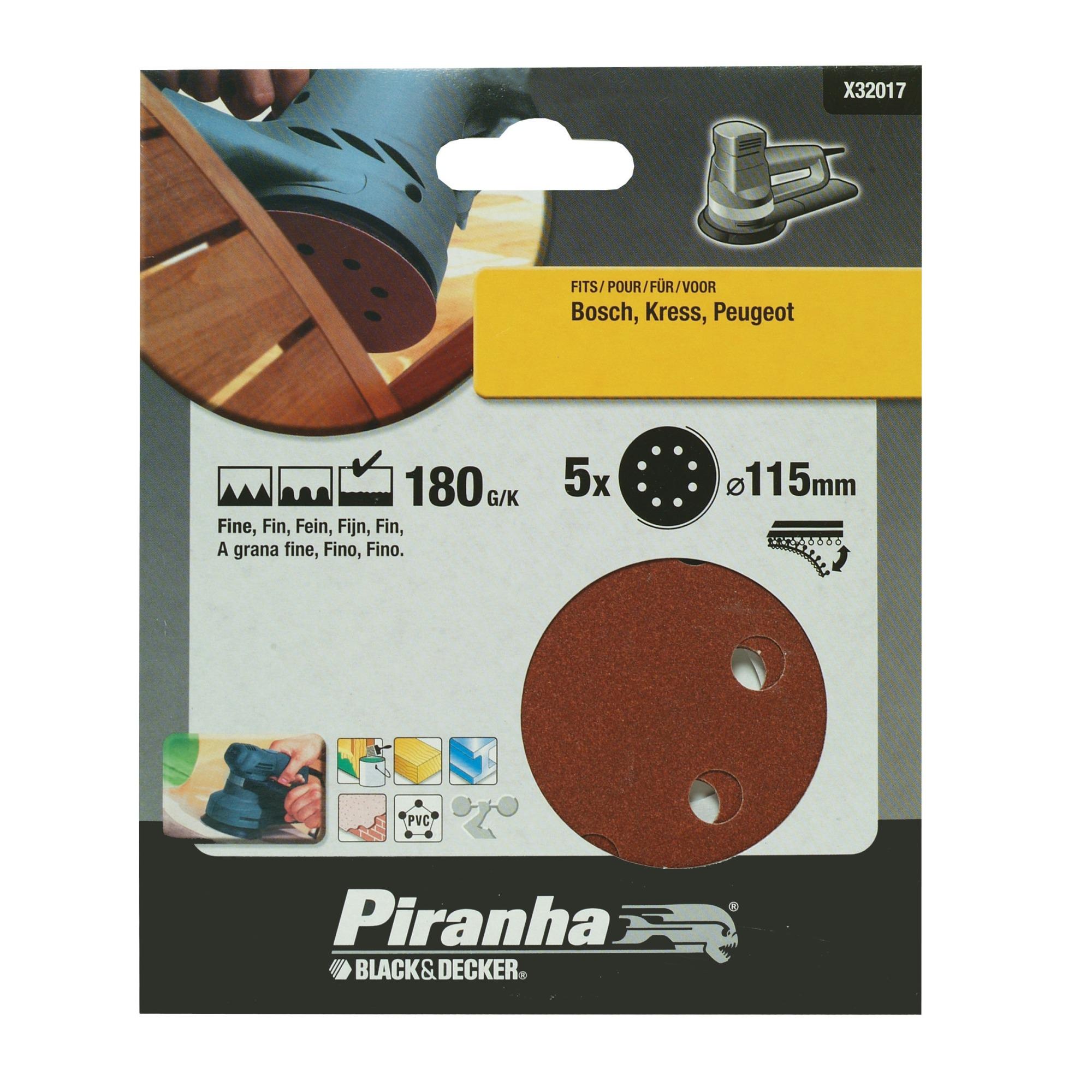 Piranha schuurschijf X32017 K180 115 mm (5 stuks)