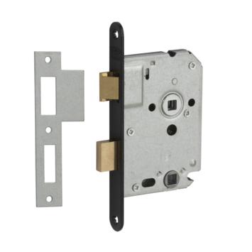 NEMEF insteekslot badkamerslot/wc-slot met zwarte voorplaat Doorn 50mm PC 63mm