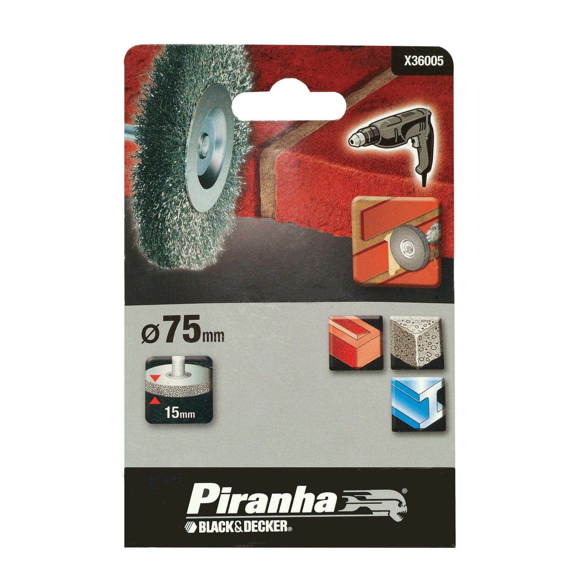 Piranha staaldraadborstel X36005-XJ 75 mm voor beton, metaal en steen