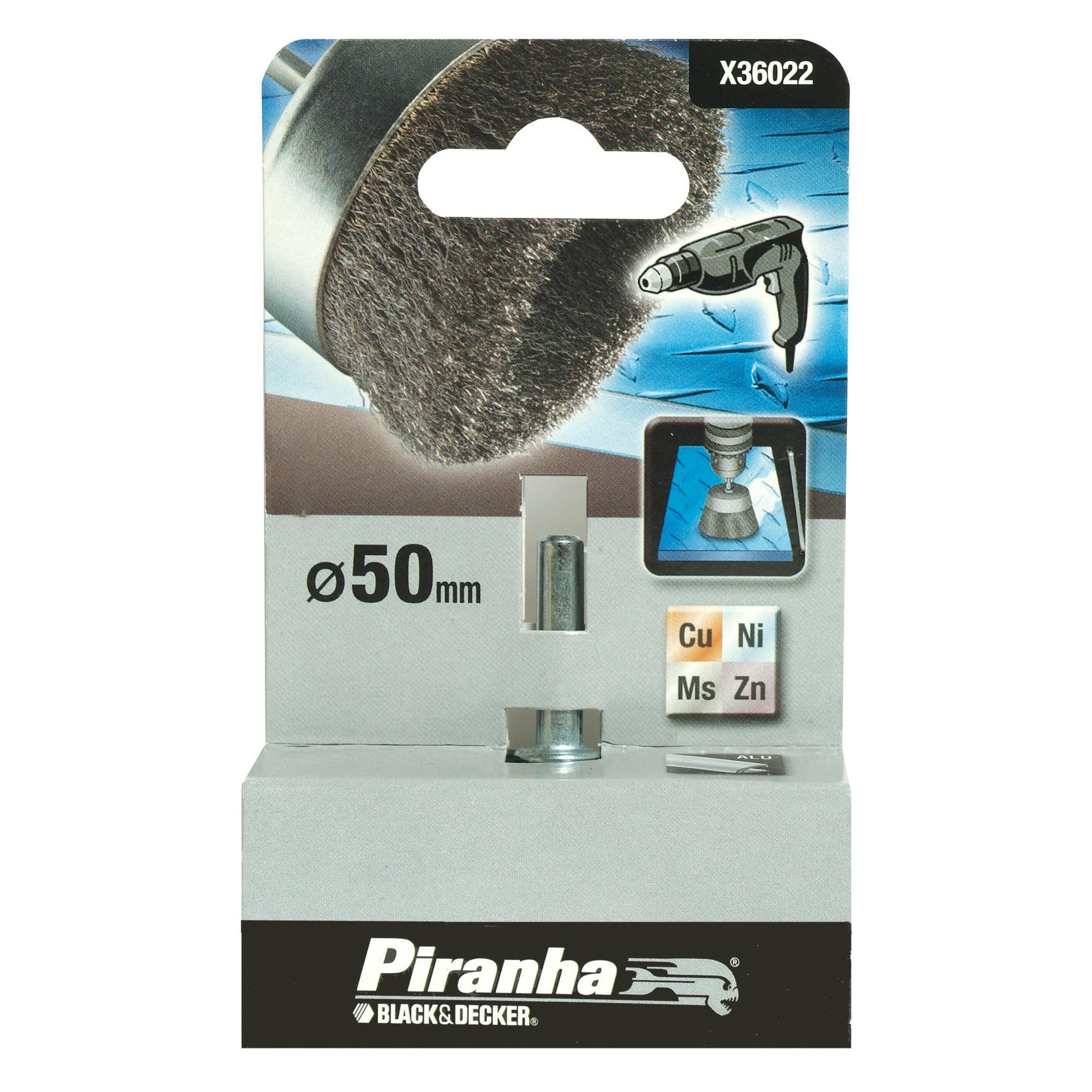 Piranha komstaaldraadborstel X36022-XJ rvs 50 mm voor metaal