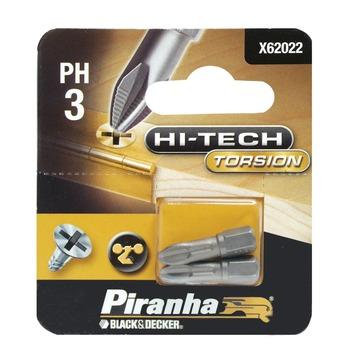 Piranha HI-TECH schroefbit X62022-XJ PH3 25 mm (2 stuks)