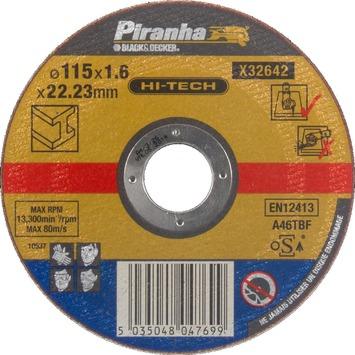 Piranha HI-TECH doorslijpschijf X32642-QZ 1,6x115 mm voor metaal