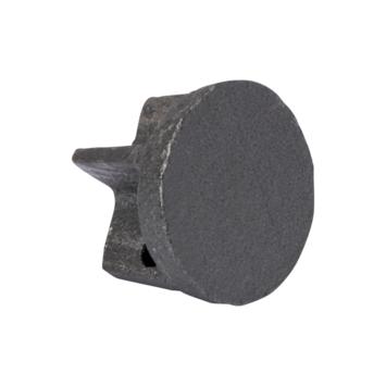 Eindknop gordijnroede Industrieel gewalst staal