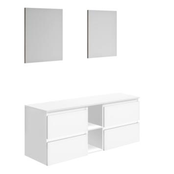 Allibert badmeubel Gaya 150 cm met spiegels Wit