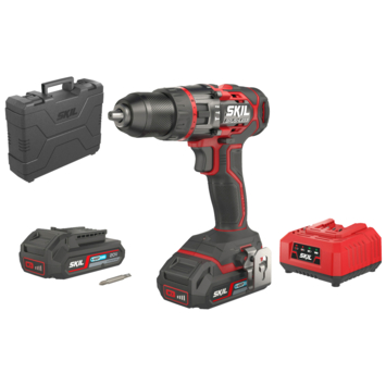 SKIL 20V accuklopboormachine 3070HC brushless + 2 accu's 2,0Ah + snellader