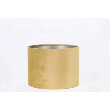 Lampenkap velours goud 25-25-18 cm
