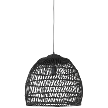 Hanglamp Lavani rotan zwart